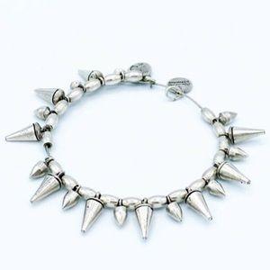 Alex & Ani Silver Spike Bangle Bracelet